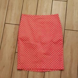 Ann Taylor Pencil skirt Pocka Dots